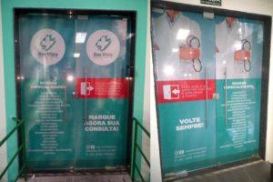 Boa Vista Medical Center – Portas Sinalizadas com Adesivo Perfurado