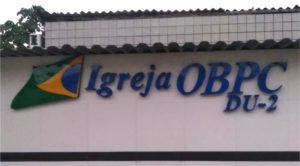 IGREJA OBPC – Letreiro em Acrílico de Caixa Alta de 10cm Recortada a Laser