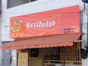 Recibolos – Fachada em ACM com Sinalização em Adesivo e Acrílico.