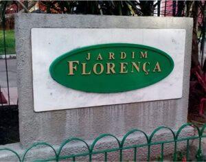 Jardim Florença – Placa em Chapa Galvanizada